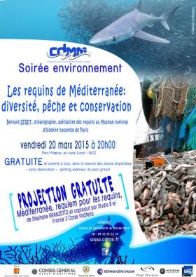 Conférence sur les requins de Méditerranée.