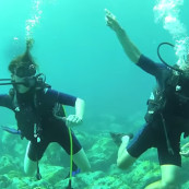 Plongeurs qui dansent