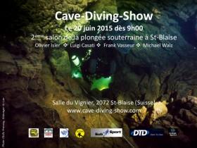 Flyer du 2e Salon de la plongée souterraine