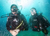 Binôme de plongeurs