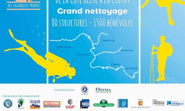 Opération Calanques Propres 2018 : Marseille le 26 mai 2018